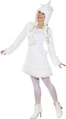 Einhorn Einhornkostüm Einhornkleid + Einhornmütze Damengröße 34 bis 44 günstig kaufen