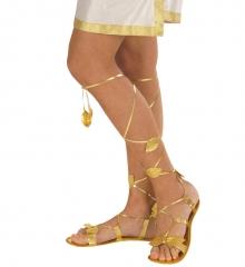 Römersandalen für Damen gold Antike Schuhe Griechische Göttin Einheitsgröße
