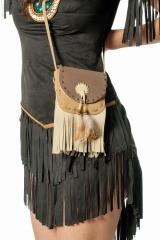 Indianer Tasche Handtasche de Luxe Nscho tschi Indianerin Damen