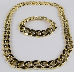 Proll Babo Lude Macho Prolethen HipHop Rapper Set - Megakette und Armband Gold