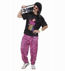 80er Jahre Outfit T-Shirt und Karottenhose New Kids Baggy Pants High-Waist