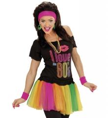 80er Jahre Regenbogenfarbener Tütü Multicolor Gummizug Einheitsgröße