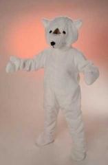 Eisbär Plüschkostüm Maskotchen Karneval Fasching
