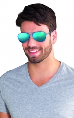 Brille mit blauen Gläsern Partybrille blaue Brille Sommertrend