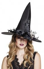 Hexenhut Hexe Halloween Skulla Verarbeitung mit tollen Accessoires