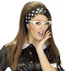 Haarband Schal Halstuch gepunktet 50er 60er Jahre Rockn Roll Peggy Sue