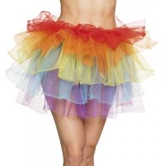 Tüllrock Petticoat Einhorn Regenbogen 80er Jahre Mottoparty Neonfarben