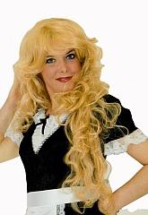 Langhaarperücke Lockenperücke Lockenpracht blond irischrot schokobraun