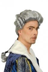 Mozart Barock Rokoko Major Richter Mittelalter Baron Perücke weiß grau