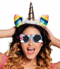 Einhorn Brille Sonnenbrille Unicorn Regenbogen Rainbow Kostüm Zubehör