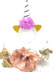 Einhorn Haarreif Haarschmuck Haarband Märchen Fabel Pegasus viele Modelle Farben