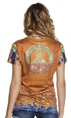 Fotorealistisches Shirt 60er 70er Jahre Hippieshirt Ibiza Mottoparty