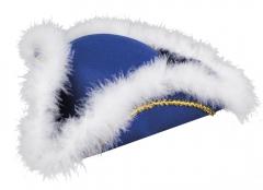 Funkenhut Tanzmariechen Gardehut Dreispitz blau oder rot