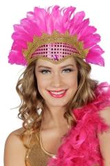 Federkopfschmuck Rio Brasil Samba Rumba Kopfschmuck mit Pailletten