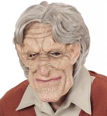 Opamaske mit Opaperücke Greis alter Mann Großvater Maske alter Mann
