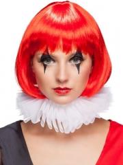 Clown Clownkragen Pierrot Barock Richter Tüllkragen weiß