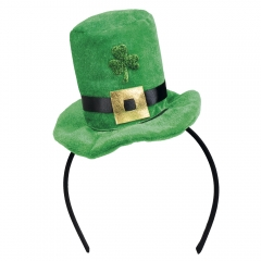 St Patrick´s Day grüner Minizylinder auf Haarreif irisches Volksfest