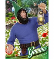 Zwergenmütze +Zwergenbart Zwerg Gnom Wichtel rot oder grün Gartenzwerg