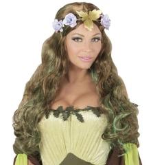 Perücke Elfe Fee Herbstfee Blumenfee Weinkönigin Elfenperücke + Haarband