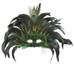 Paradiesvogel Pfauenmaske Vogelmaske Federmaske Phantasiemaske