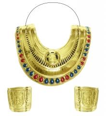 Cleopatra Kleopatra Kragenschmuck + Armschmuck Orient Ägypterin