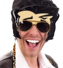Rockstar Partybrille Elvis Spiegelbrille Mallorcaparty 70er Jahre Mottoparty