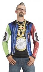 Rapper HipHop 3D T-Shirt Fotorealistisch + Bandana + Rockerbrille