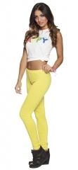 Neon Leggings 80er Jahre Mode Hit pink, gelb, orange oder grün