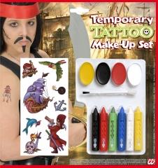 Pirat Piratenschminke Piratentttoos Make-up Karnevalsschminke