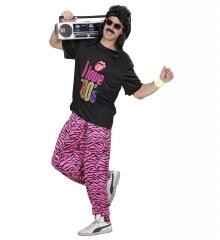 80er Jahre Baggy Pants Jogginghose + aufblasbarem Radio