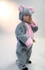 Maus Mäuschen Tierkostüm Kinder Karneval Fasching Party