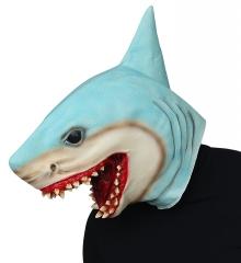 Haimaske Vollkopfmaske Fischmaske Raubfisch Killerhai Haifisch