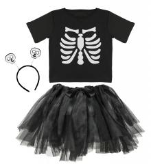 Skelett Skelettkostüm Halloween-Kostüm Kinder Größe 110 ca. 3-4 Jahr
