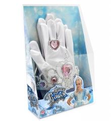 Prinzessin Schmuck Handschuhe Diadem Ring Kinderprinzessin Königin