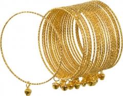 Armreifen goldfarben 20 Stück Glöckchen Bauchtanz Zigeunerin Bollywood
