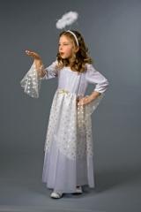 Engelskleid für Kinder Kostüm Christkind Weihnachtsfest oder Krippensp