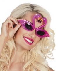 Flamingo Flamingobrille Vogelbrille pinke Brille Strandparty