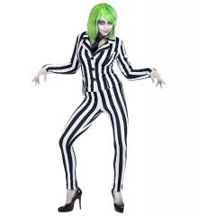 Beetlejuice Ghost Geist Horrorclown Halloweenkostüm Lottergeist