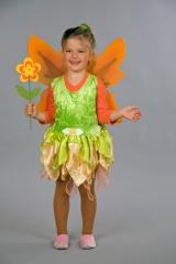 Kleine Elfe Feenkleid mit Flügeln Kinderkostüm Faschingskleid für Klei