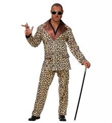 Leopardenanzug Partyanzug Proll Bollo Mann von Welt Zigarre Brille