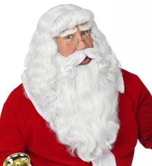 Nikolaus Weihnachtsman-Set Perücke / Bart ,Augenbrauen Santa Claus