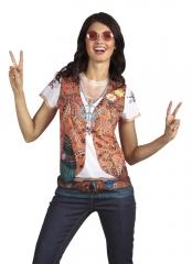 Hippie Hippieshirt 60er 70er Jahre 3 D Fotorealistisches T-Shirt
