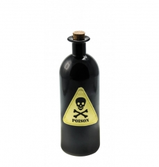 Flasche mit Giftzeichen Schnapsflasche Scherzartikel Halloweendekoration