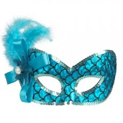 Augenmaske Nixe Meermaid Meerjungfrau Maske Fisch Unterwasserwelt