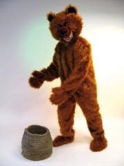 Bär Braunbär Maskotchen Kostüm Karneval Fasching Party