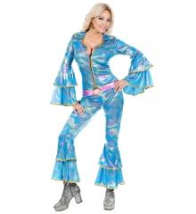 Disco Queen Mama Mia Jumpsuit mit Gürtel Berühmtheiten