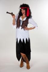 Piratin Seeräuberin Damenkostüm Freibeuterin Hochseepiratin