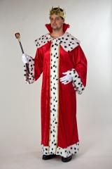 Schwarzer Kapuzenumhang mit rotem Tüllüberwurf Venezianer Maskenball