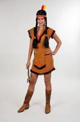 Indianerin Rothaut Apache Faschingskostüm Wilder Westen Damenkostüm Sq