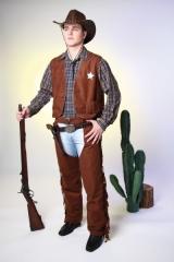Cowboyweste Cowboy wilder Westen schwarz oder braun 48 50 52 54 56 58